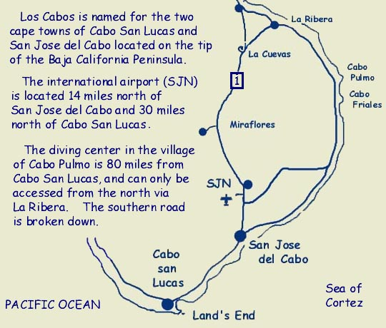 Wade's Cabo Map